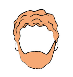 Nice man face with haistyle and beard vector