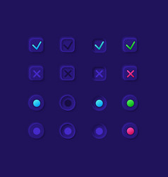 option boxes ui elements kit vector image