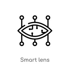 Outline smart lens icon isolated black simple vector