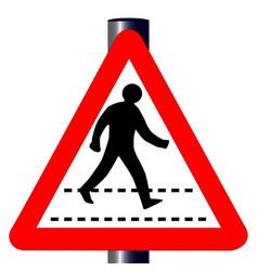 pedestrian traffic sign vector image