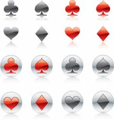 poker card icon vector image
