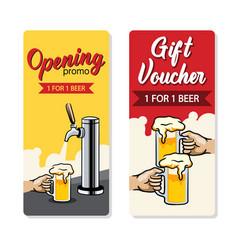 Promo beer gift voucher vector