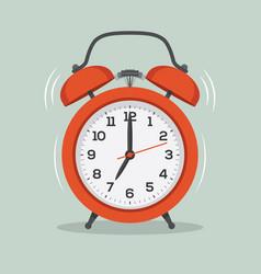 Ringing alarm clock flat vector