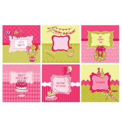 set cards - birthday and party theme vector image