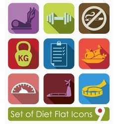 Set of diet icons vector image