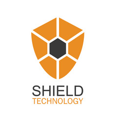 shield technology logo vector image