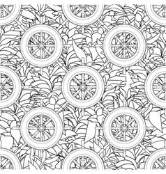 Ship equipment zentangle seamless pattern vector