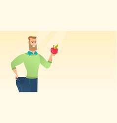 Slim man in pants showing results of his diet vector