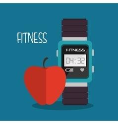 Smart watch apple cartoon fitness sport vector