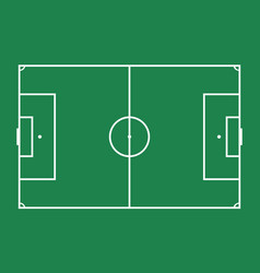 soccer field football game vector image