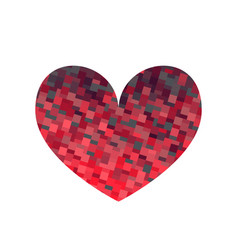 square texture red heart vector image