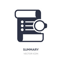 Summary icon on white background simple element vector
