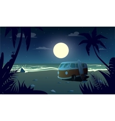 Summertime at the night vector
