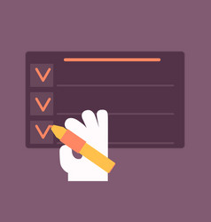 To do list concept vector