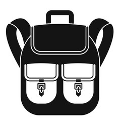 Trip backpack icon simple style vector