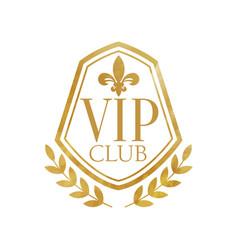 Vip club luxury golden badge for resort boutique vector