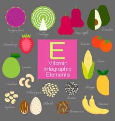 vitamin e infographic element vector image