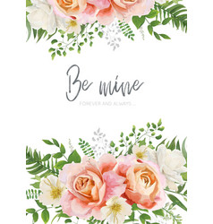 wedding invite invitation greeting card poster vector image
