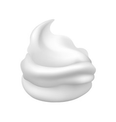 White creamy foam vector