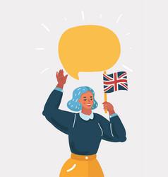 woman at english lesson vector image