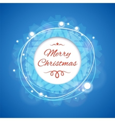 Blue Merry Christmas Banner vector image vector image