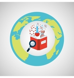 Concept science lab search icon graphic vector