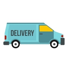 Delivery van icon flat style vector image vector image