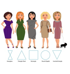 Five Figures bussiness dresses vector image vector image