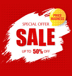 sale poster with text vector image
