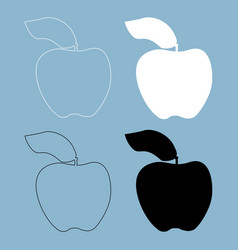apple the black and white color icon vector image vector image