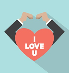 Hands Making Heart Sign vector image vector image