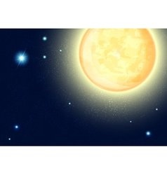 Night sky with stars and full moon vector image