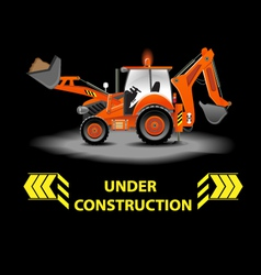 Under construction alert vector image vector image