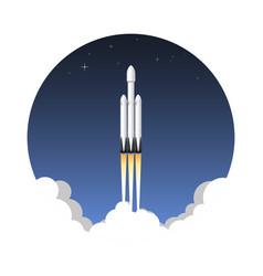 Usa rocket carrier icon vector
