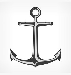 anchor on white vector image