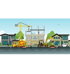 construction work vector image vector image