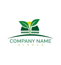 landscaping company symbol vector image