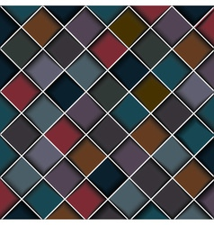 Multicolored structure of squares vector image vector image