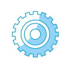 silhouette industry gear to process engineering vector image