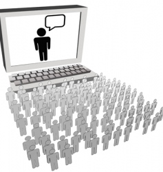 social network audience vector image vector image