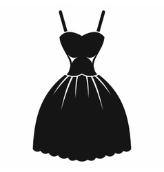 Summer dress icon simple style vector image