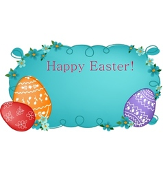 Easter banner or greetings card vector image vector image