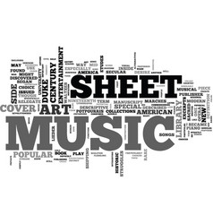 First sheet music text background word cloud vector