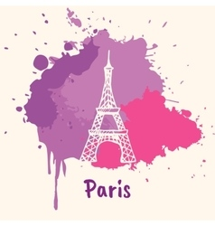 French Emotive Motive with architecture attraction vector image