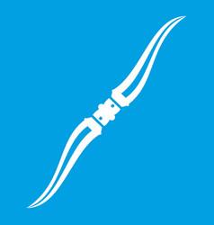 throwing ninja knife icon white vector image vector image