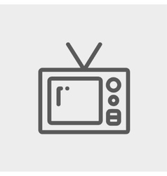 Vintage television thin line icon vector image