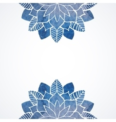 Watercolor floral blue pattern on white background vector image vector image
