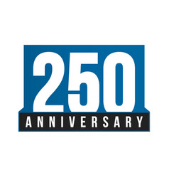 250th anniversary icon birthday logo vector image