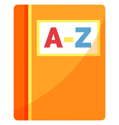 Alphabet book or reading textbook school supply vector