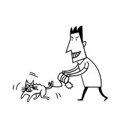 Animal abuse by human vector